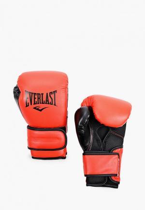 Перчатки боксерские Everlast Powerlock PU. Цвет: желтый