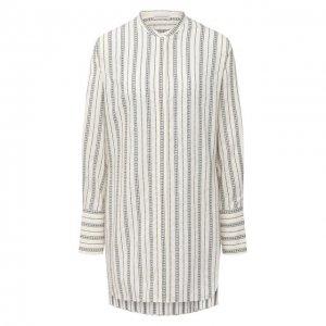 Блузка из хлопка и вискозы By Malene Birger. Цвет: белый