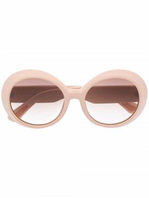 Солнцезащитные очки Archive 1993 в круглой оправе Christian Roth. Цвет: розовый