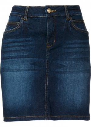 Джинсовая юбка bonprix. Цвет: синий