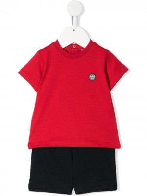 Комплект из футболки и шортов Emporio Armani Kids. Цвет: красный