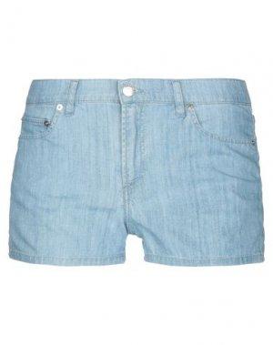 Джинсовые шорты LACOSTE. Цвет: синий