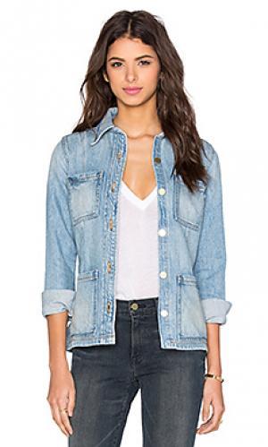Джинсовая куртка le patch pocket jacket FRAME Denim. Цвет: n
