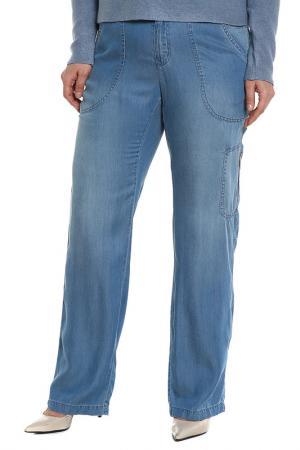 Брюки Elena Miro. Цвет: джинс светло-голубой