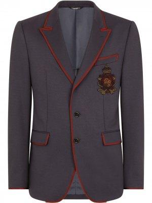 Пиджак с нашивкой Dolce & Gabbana. Цвет: синий