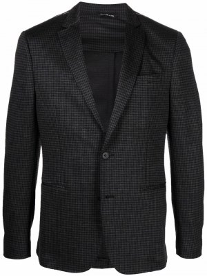 Однобортный шерстяной пиджак Tonello. Цвет: серый
