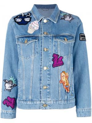 Джинсовая куртка с нашивками Kenzo. Цвет: синий