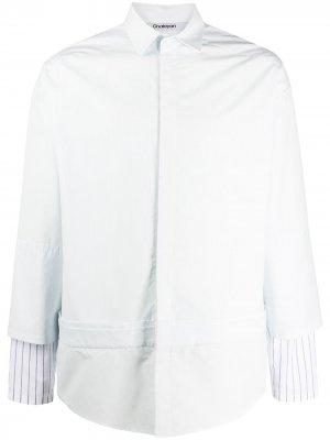 Двухслойная рубашка с полосками Chalayan. Цвет: синий