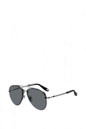 Солнцезащитные очки Givenchy. Цвет: серебристый