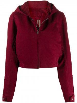 Укороченная куртка с капюшоном Rick Owens DRKSHDW. Цвет: ds20fv93 bruise