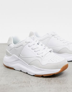 Белые кроссовки Rovina-Белый Skechers