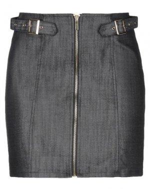 Джинсовая юбка BLUMARINE. Цвет: черный