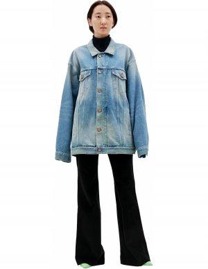 Джинсовая куртка с молниями по бокам Balenciaga