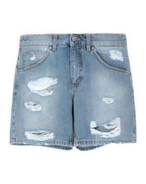 Джинсовые шорты UP ★ JEANS. Цвет: синий