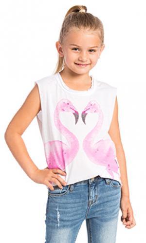 Майка flamingos Chaser. Цвет: белый
