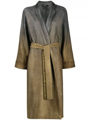 Пальто с запахом Avant Toi. Цвет: зеленый