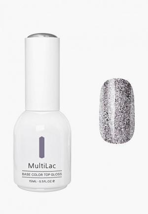 Гель-лак для ногтей Runail Professional MultiLac с блестками, цвет: Звездная пыль, Stardust, 15 мл. Цвет: серебряный