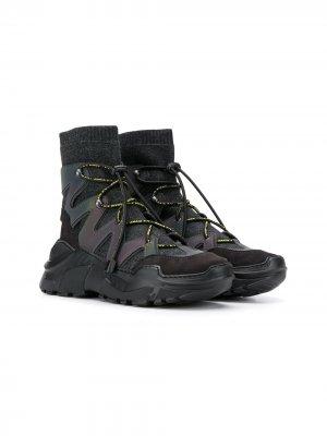 Кроссовки на шнуровке Cinzia Araia Kids. Цвет: черный