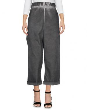 Джинсовые брюки-капри S°N. Цвет: серый