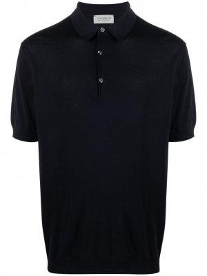 Рубашка поло с короткими рукавами John Smedley. Цвет: синий