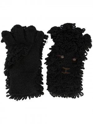 Фактурные перчатки Doublet. Цвет: черный
