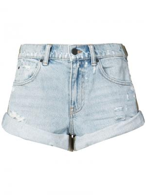 Джинсовые шорты с подворотами Alexander Wang. Цвет: синий