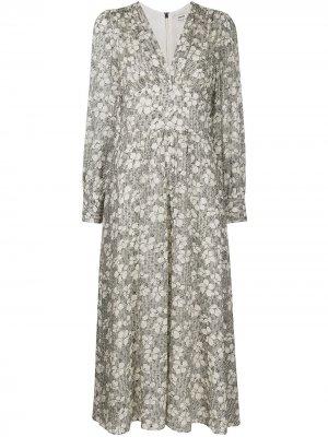 Платье макси с цветочным принтом Jason Wu. Цвет: нейтральные цвета