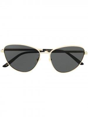 Rounded sunglasses Gucci Eyewear. Цвет: золотистый