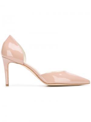 Туфли-лодочки с вырезами Antonio Barbato. Цвет: бежевый