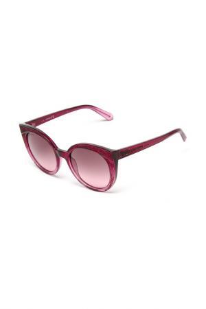 Солнцезащитные очки Swarovski. Цвет: фиолетовый