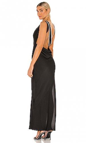 Вечернее платье dani Michael Costello. Цвет: черный