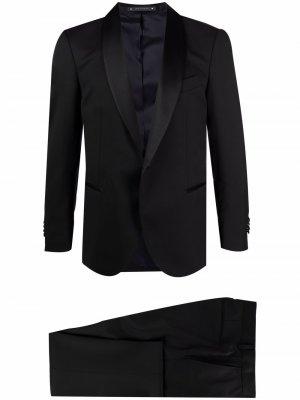 Вечерний костюм с однобортным пиджаком Bagnoli Sartoria Napoli. Цвет: черный