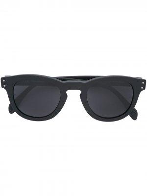 Солнцезащитные очки в круглой оправе Eleventy. Цвет: черный