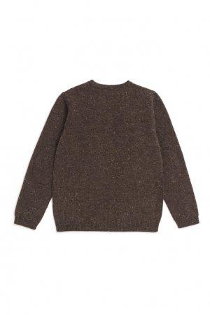 Кашемировый пуловер цвета хаки Bonpoint. Цвет: хаки