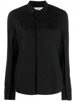 Приталенная рубашка с длинными рукавами A.F.Vandevorst. Цвет: черный