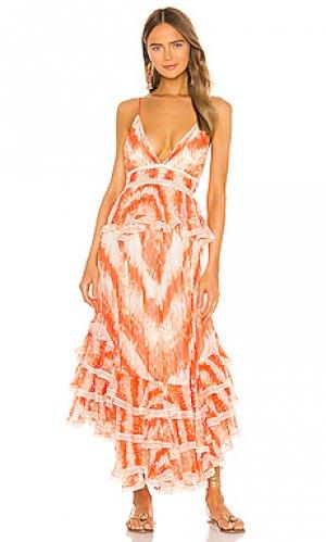 Платье миди roma ROCOCO SAND. Цвет: оранжевый