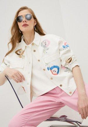 Куртка джинсовая Essentiel Antwerp ZESERT. Цвет: белый
