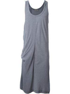 Удлиненный жилет Yohji Yamamoto. Цвет: серый