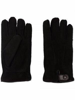 Перчатки с пуговицей сбоку Giorgio Armani. Цвет: черный