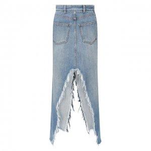 Джинсовая юбка Givenchy. Цвет: синий