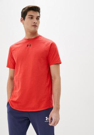 Футболка спортивная Under Armour Charged Cotton SS. Цвет: красный