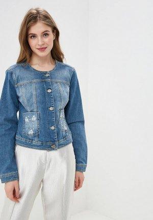 Куртка джинсовая Madeleine. Цвет: голубой