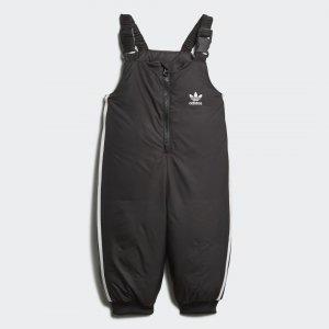 Утепленный комбинезон Trefoil Real Originals adidas. Цвет: черный