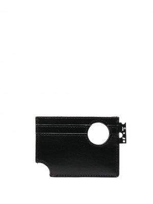Картхолдер с вырезами Off-White. Цвет: черный
