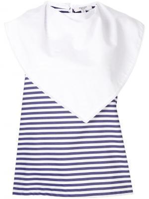 Блузка с большим воротником Atlantique Ascoli. Цвет: белый
