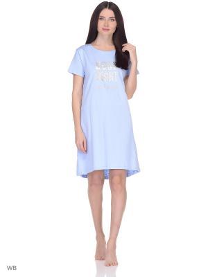 Ночная сорочка Modis. Цвет: голубой, светло-голубой