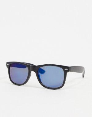 Квадратные солнцезащитные очки с затемненными стеклами -Темно-синий Jack & Jones