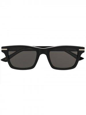 Солнцезащитные очки 1337 в квадратной оправе Cutler & Gross. Цвет: черный