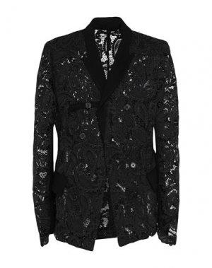 Пиджак ANN DEMEULEMEESTER. Цвет: черный