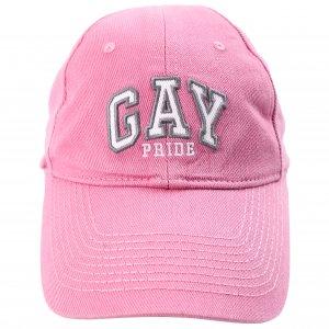 Розовая кепка с вышивкой GAY Balenciaga